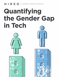 Hired Report: Quantifying the Gender Gap in Tech